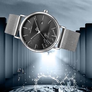 Image 4 - Men Watch Top Brand NAVIFORCE Stainless Steel Mesh Quartz Men's Watches Waterproof Date Business Wristwatch Relogio Masculino