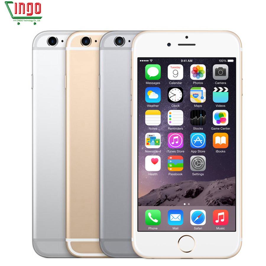 Desbloqueado Apple iPhone 6 s Dual Core 4.7 ''2 GB de RAM 16/64 GB ROM 4G telefone Móvel LTE 4 K Vídeo iOS 9 IOS 9 Smartphone 12.0MP Avaliado