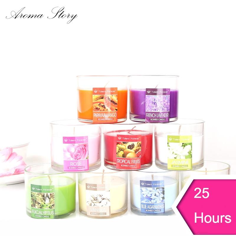 Vela de aromaterapia sin olor, sin plomo, aromática, con aroma - Decoración del hogar