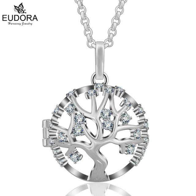 [Sponsored]Eudora Harmony Ball Life Tree Pendant Lockets Sterling Silver Jewellery Chain Necklace Ewi7VtN