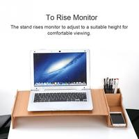Solid Monitor Stand Computer Screen Monitor Stand Organizer High Density HDF Board Desktop Monitor Riser For