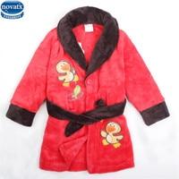 novatx 3021 Fashion Girls Toweling Robe Children's Bathrobes Dressing nova Kids wear winter girls robes factory hot selling