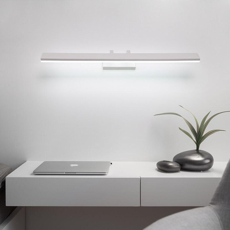 Moderno e minimalista LED luce dello specchio lampada da comodino led lampada da parete luce del bagno ha condotto le luci da parete diretta creativo corridoio camera da letto della lampada