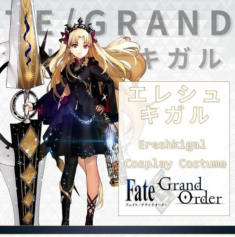 Milky Way Anime Fate Grand Order Lancer Ereshkigal FGO Cosplay Custume  Dress Halloween Costume With Cage And Earring Ethnic Costumes Sexiest  Cosplay