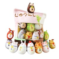 12 Symbolic Animals a large bag Plush toy Filled doll soft cute Small animals Suitable for children birthday present