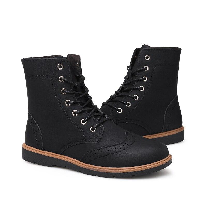 Luxus Mens Hohe Leder Stiefel Neue Mode Frühjahr Schuhe für Männer Bequeme Jungen Junge Casual Stiefel Wearable Kühlen männer schuhe - 2