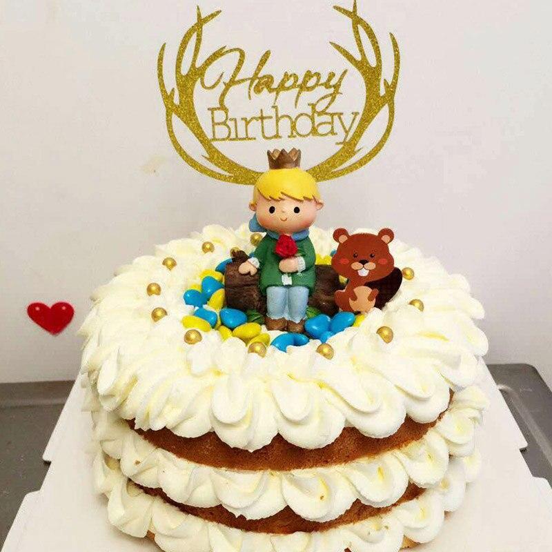 Us 251 29 Off5pcslot 7 9cm Le Petit Prince Little Prince Rose Fox Snake Action Figures Princes Cake Topper Cake Decoration Supplie In Cake