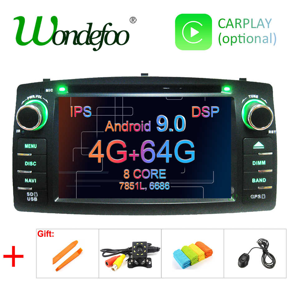 DSP 2 din Android 9.0 4G 64G car dvd player For Toyota Corolla E120 BYD F3 multimedia player stereo GPS radio navigation