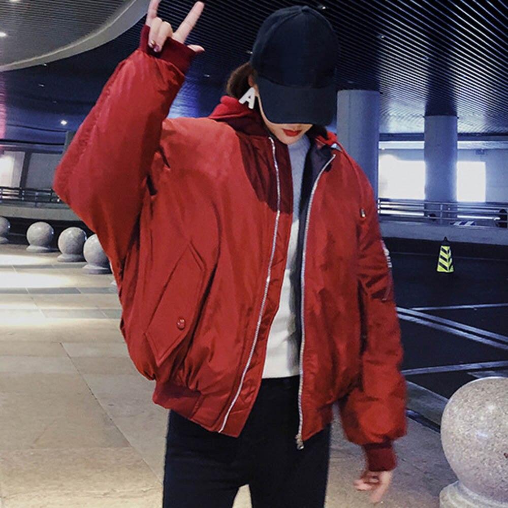 Manteaux Rouge Hiver Femelle Fourrure 2018 Poche rouge Veste Porter Survêtement blanc Mode Fois Harajuku Bleu La Femme Capuchon Solide Court De Capuche À IrAqAT5x