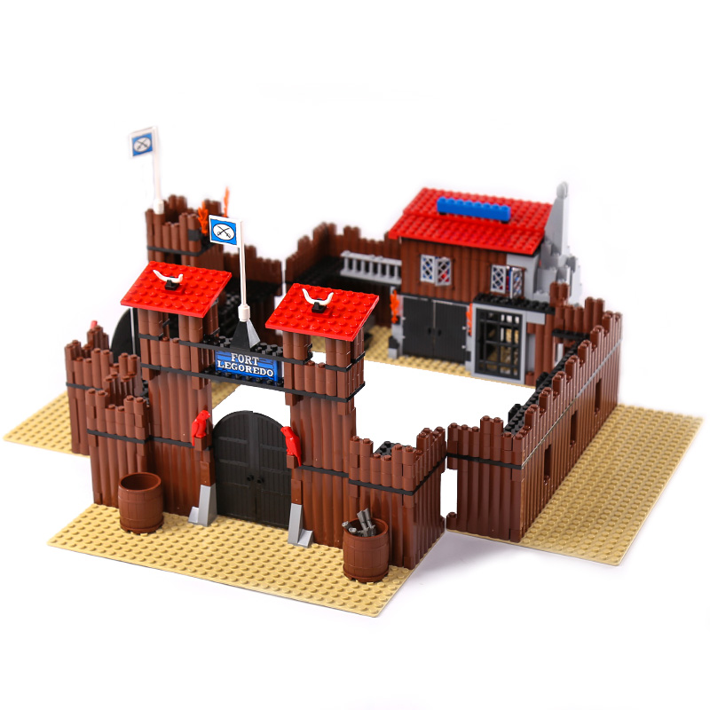 Lepin 33001 742Pcs Genuine Building Series The Idian Cowboy`s Castle Set Educational Building Blocks Bricks Toys Model Gift 6769 new diy 742pcs genuine building series the idian cowboy s castle set educational lepines building blocks bricks toys model gift