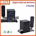 2 Pcs/lot digital stage co2 Jet moka co2 jet dmx Machine Single Nozzle  Cylinder CO2 Jet cannon for Disco Club Dancing Hall