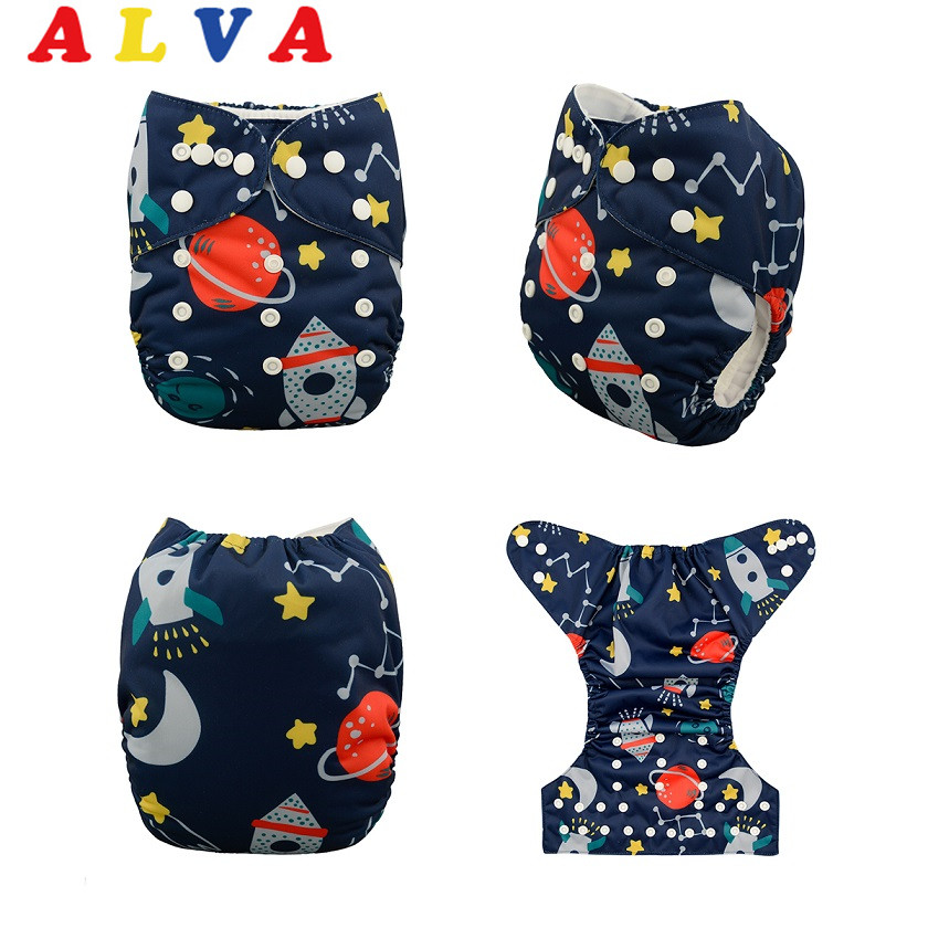 10 pieces lot Digital Positioned Cloth Nappy with 10pcs 3 layers Microfiber Inserts