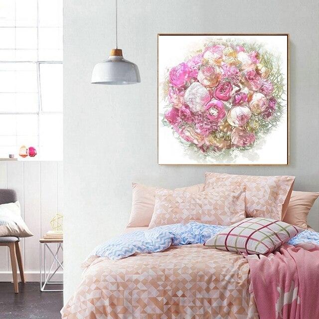 Colorato Piombo Pittura Giclée Stampa Rosa Poster Mazzi di Rose ...
