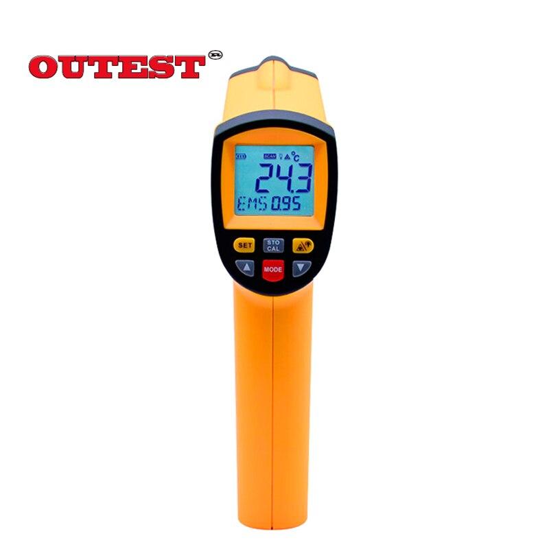 GM1150 Бесконтактный лазерный ЖК-дисплей Дисплей цифровой инфракрасный термометр Температура метр пистолет точка-50 ~ 1150 градусов