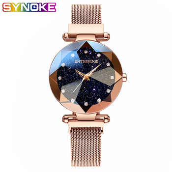 2019 Crystal Quartz Watch Women Luxury Brand lady Dress Watch Fashion Rose Gold Watches Female Stainless Steel Wristwatches