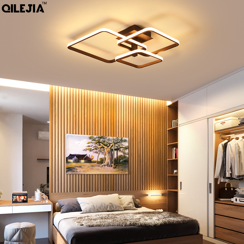 Chandeliers Light For Living Room Dining Bedroom Dimmable With Remote White Coffee Frame Lighting Fixture Lamparas