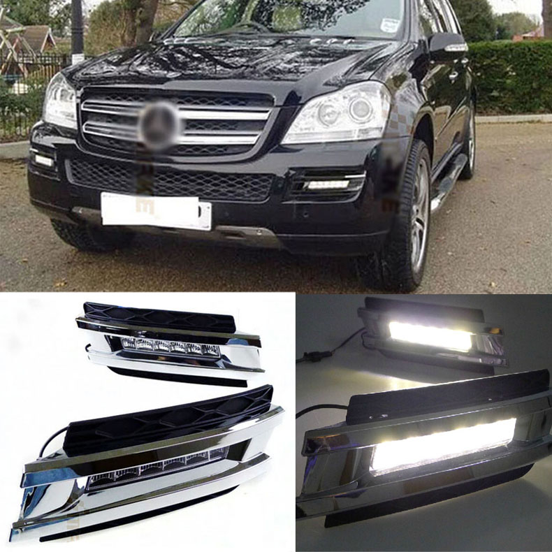 Brand New Updated LED Daytime Running Lights DRL With Black Fog Light Cover For Benz W164 GL320/350/420/450/550 brand new updated led daytime running lights drl with black foglight cover for mitsubishi lancer ex