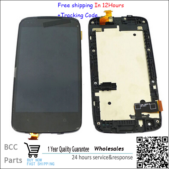 For HTC desire 500 Original LCD display &touch screen digitizer with frame BEST quality, Test OK & tracking number