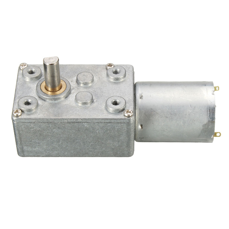Muggle HardwareParadise Store 12V 12RPM Worm Turbo Gear Motor Right Angle Gear DC Motor Metal Gearbox For Smart Robot Hot Sale