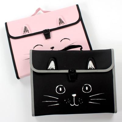 Cartoon Cute Document Bag A4 Pocket File Bag Portable Expanding Folder For Documents