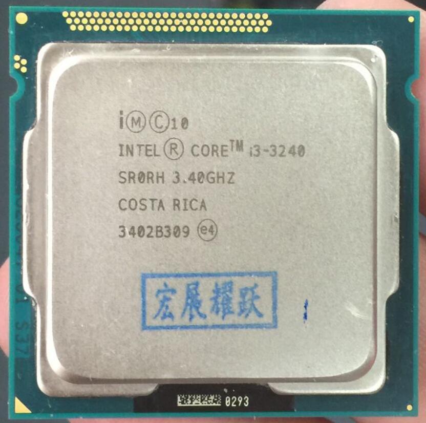 Ordinateur PC processeur Intel Core i3-3240 i3 3240 (Cache 3 M, 3.40 GHz) processeur de bureau LGA1155