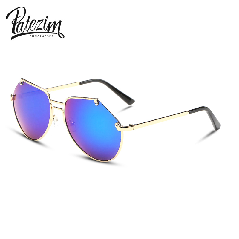 2017 fashionable vintage women sunglasses Coating Mirrored Sunglasses for Men Metal Frame Sun Glasses gafas oculos de sol