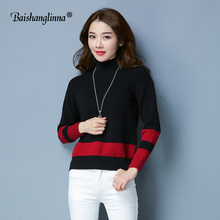 BAISHANGLINNA 2017 winter Women Turtleneck Sweater Female Knitted Pullover Ladies all-match Basic Long Sleeve Shirt Clothing new