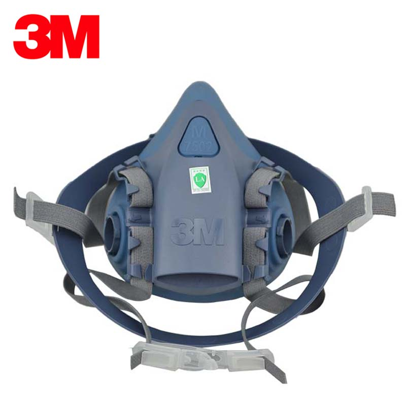 3M 7501 Respirator Half Facepiece Reusable Respirator Gas Mask Small Size for Children LT045 3m 7501 6005 half facepiece reusable respirator mask formaldehyde organic vapor cartridge 7 items for 1 set xk001