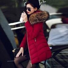 2016 Супер Девушки Длинный Мех Перо Мягкий Хлопок Проложенный Одежды Женщина Куртка Зимняя Одежда Зимняя Куртка Женщин Вниз Пальто