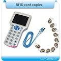 Супер 9 частота копирования зашифрованных NFC Смарт-Карты Чтения и Писатель RFID Копир ID/IC Чтения-Записи 10 Шт. 125 кГц + 10 Шт. 13.56 МГЦ UIDcards