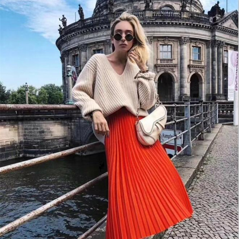 8966be31a9ba3 Detail Feedback Questions about Women Loose Autumn Pull Pit V Neck Long  Sleeve Casual Knitted Sweater Pullover Femme 4 color on Aliexpress.com