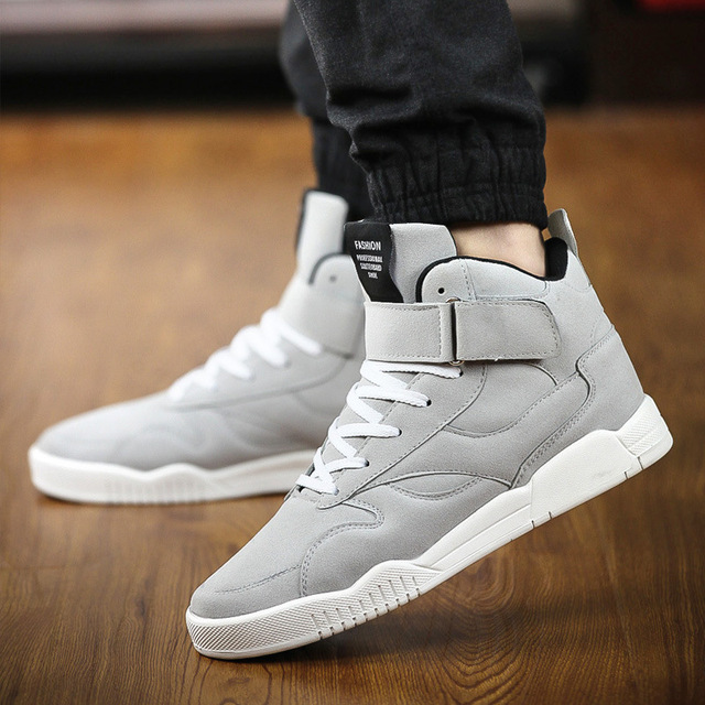 High Top Men Classic Suede Leather Men Casual Shoes Fashion Ankle Boots  Lace up Autumn Sport