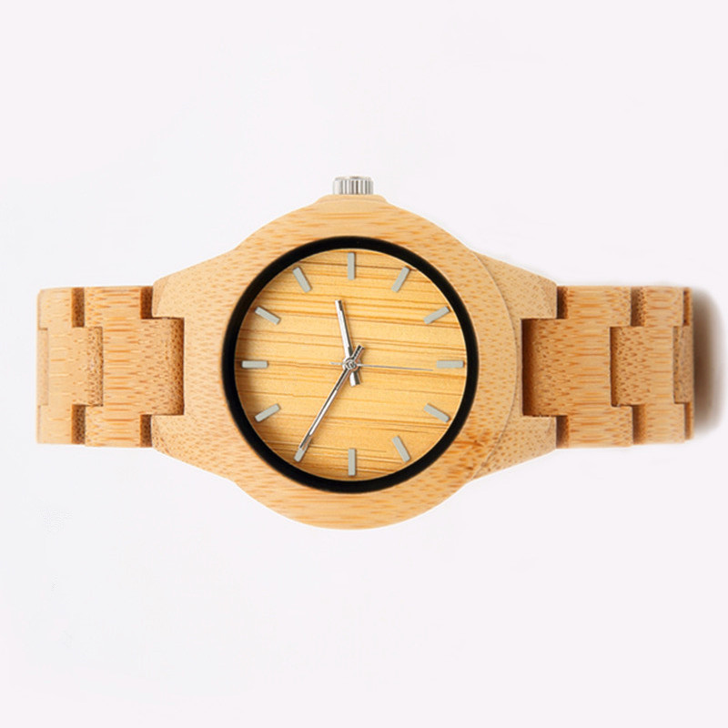 06 Kvinder Ur Luksus Dameure ure Wood Watch Analog Quartz Light - Dameure - Foto 2