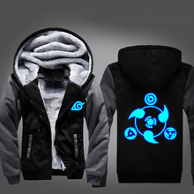 Anime NARUTO Akatsuki Cosplay Costume Luminous Jacket Sweatshirts Thicken Hoodie Coat Unisex