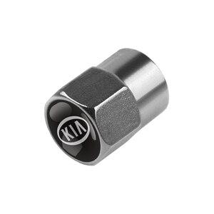 Image 4 - Cubiertas de válvula de neumático de Metal para coche carcasa de vástago para KIA cerato rio ceed sportage sorento k2 k3 k4 k5 k6 Rio 2 3 picanto, 4 Uds.