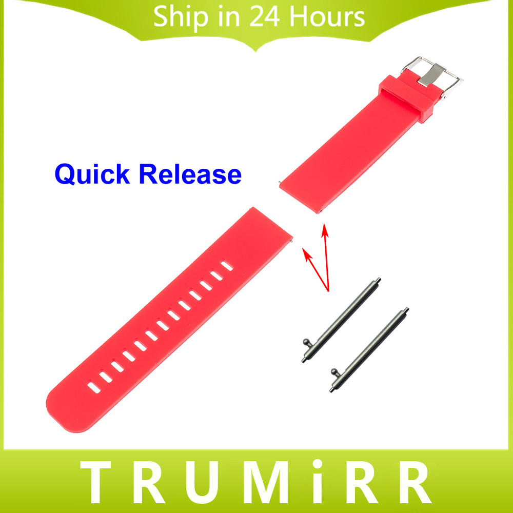 22mm Quick Release Watch Band for Samsung Galaxy Gear 2 R380 Neo R381 Live R382 Moto 360 2 46mm Silicone Rubber Strap Bracelet 8 32mm 22pieces metric chrome vanadium crv quick release reversible ratchet combination wrench set gear wrench spanner