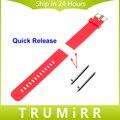 Faixa de relógio 22mm quick release para samsung galaxy gear 2 r380 neo r381 live r382 moto 360 2 46mm pulseira de borracha de silicone pulseira