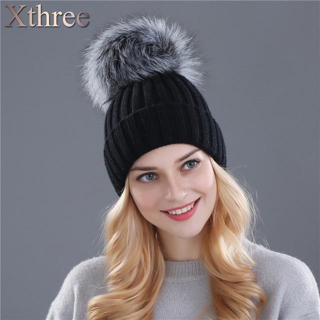 04761064b69 Hot Sale Women Beanie Winter Handmade Stripes Rex Rabbit Fur Hat Women Fur  Hats Warm Soft Free Shipping-in Skullies   Beanies from Women s Clothing    ...