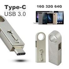 CHYI Smart OTG Type C USB Flash Drive 3.0 Pendrive 16GB 32GB 64GB Mini Tablet Smartphone Type-C 3.1 Pen Memory Stick Thumb