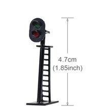 Luces Led JTD05 para señales de tráfico, modelo de ferrocarril 1:87, 2 bloques de luz, señal verde/rojo HO, escala 4,5 cm, 12V, 5 uds.