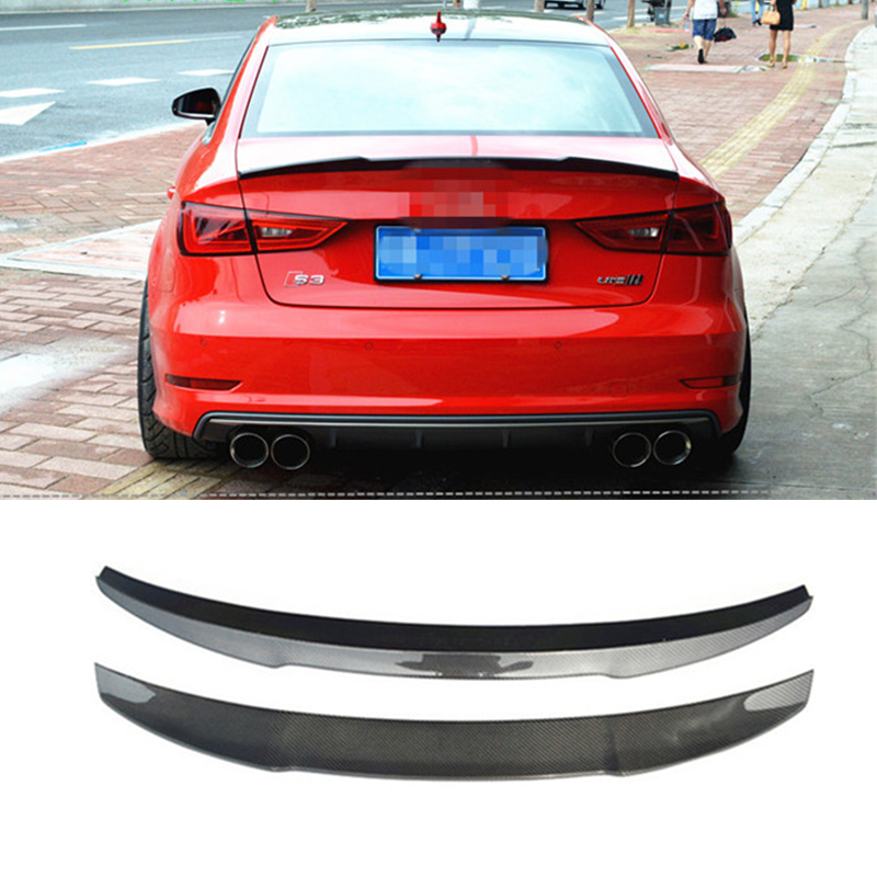 A3 s3 car styling carbon fiber rear wing spoiler auto car for Wing motors automobiles miami fl