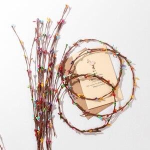 Image 1 - 10 adet yapay Rattan çiçek tomurcuğu şapkalar Garland fotoğraf sahne fotoğraf arka plan süsler aksesuarları DIY süslemeleri