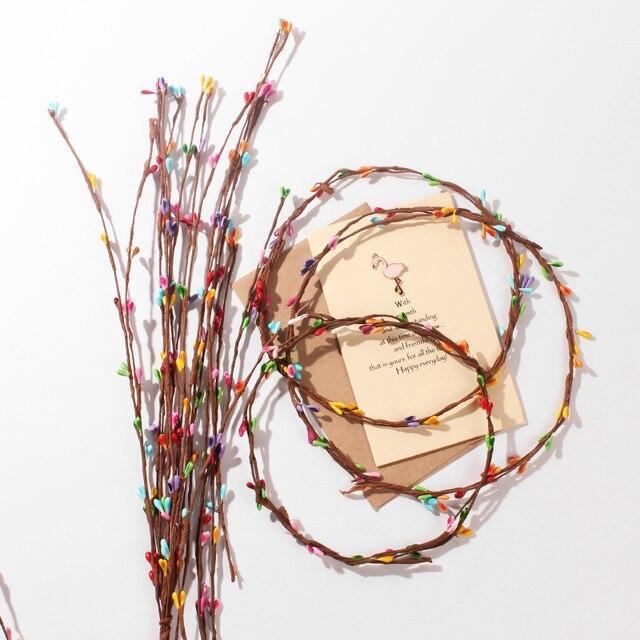 10 adet yapay Rattan çiçek tomurcuğu şapkalar Garland fotoğraf sahne fotoğraf arka plan süsler aksesuarları DIY süslemeleri