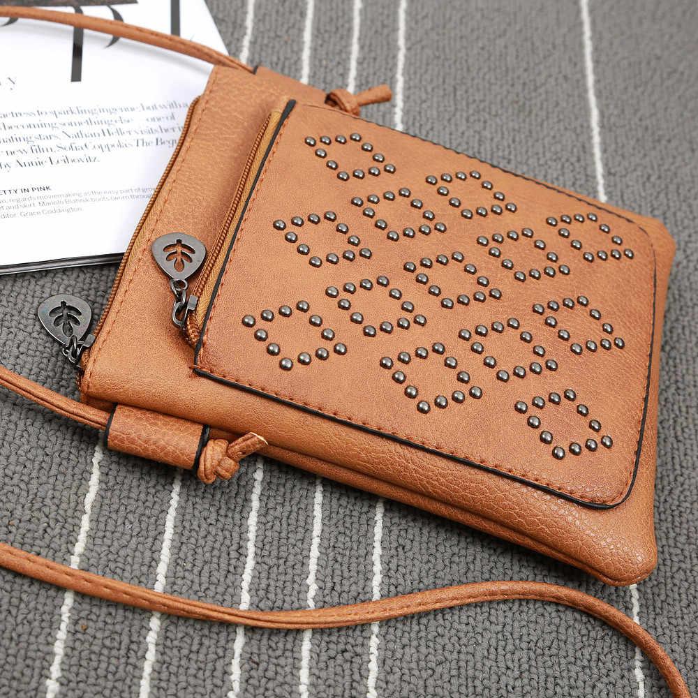 Женский кожаный кошелек, сумка через плечо на молнии, сумка-мессенджер, маленькая мини-сумка