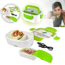 Hohe Qualität 1.05L 12 V Elektrische Beheizte Auto Stecker Heizung Lunch Box Set Outdoor Picknick Kostwärmer Container Mit Löffel kind Bento