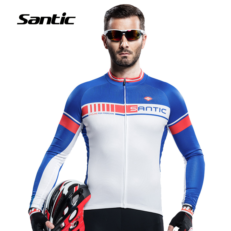 Santic Cycling Jerseys Men Long Sleeve Summer Sunproof Breathable Road Bicycle Clothes Bike Clothing Outdoor Sport Ropa Ciclismo cycling clothing summer men cycling jerseys bike clothing bicycle short ropa ciclismo breathable sportwear bike clothes