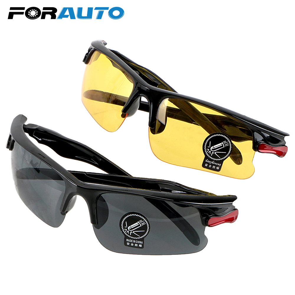 FORAUTO Car Night Vision Drivers Goggles Driving Glasses Protective Gears Sunglasses Night-Vision Glasses Interior Accessories