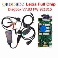 Diagbox borda ouro v7.83 lexia 3 chip completo 921815c para citroen peugeot ferramenta de diagnóstico lexia 3 12pcs relés 7pcs optoacopladores