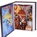 DIY Wooden Dollhouse 3D Handmade Miniature Kit Pirate Bar & All furniture/LED light