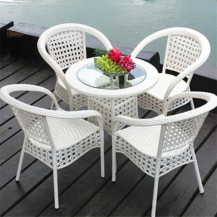fbe26f48a set of 5pcs Patio Rattan Furniture Set Outdoor Backyard Dining Table and 4  Chairs-in Garden Sets from Furniture on Aliexpress.com
